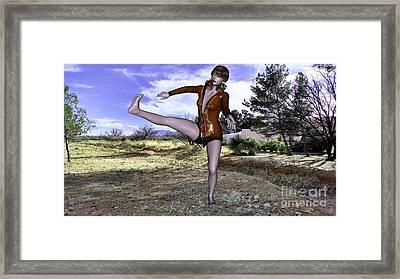 Dancing Woman Framed Print
