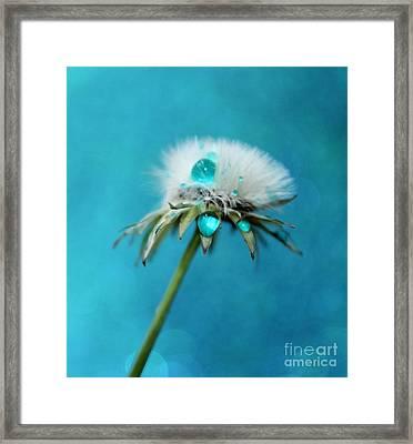 Dandelion Blues Framed Print by Krissy Katsimbras