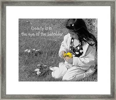 Dandelion Bouquet Framed Print