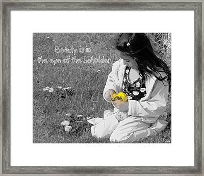 Dandelion Bouquet Framed Print by Heidi Manly
