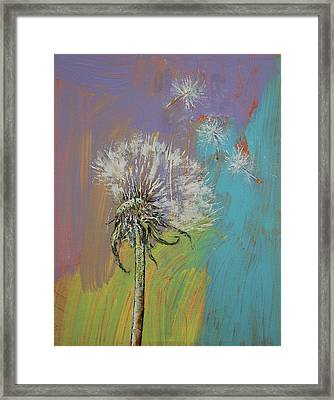 Dandelion Framed Print by Michael Creese