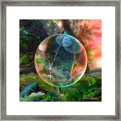 Framed Print featuring the painting Dandelion Wine by Robin Moline