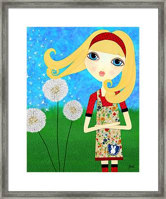 Dandelion Wishes Framed Print by Laura Bell