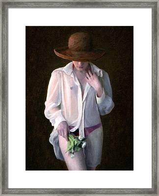 White Dandelions Framed Print by Charles Pompilius