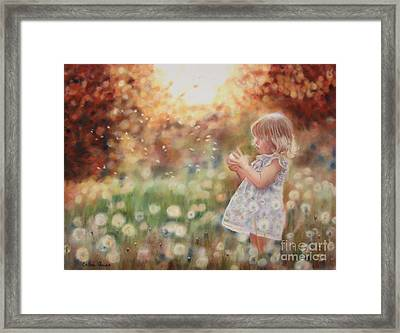 Dandelions Framed Print by Colleen Quinn