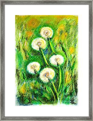 Dandelions Framed Print by Zaira Dzhaubaeva