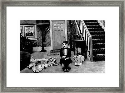 Dandy Charlie Chaplin  Framed Print