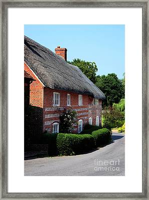 Dane Cottage Nether Wallop Framed Print