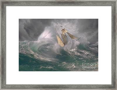 Danger At Sea Framed Print by Ron Sanford
