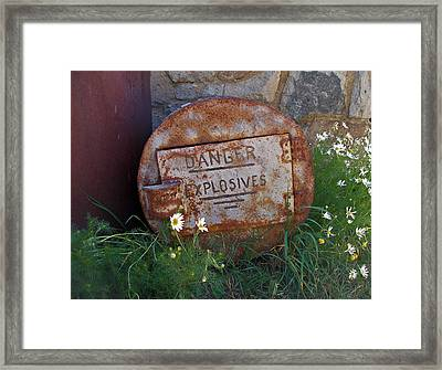 Danger Explosives Framed Print