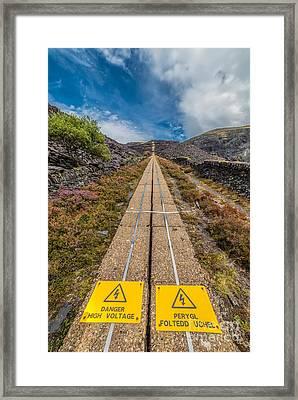 Danger High Voltage  Framed Print by Adrian Evans