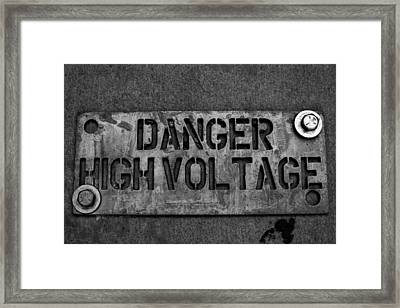 Danger High Voltage Framed Print