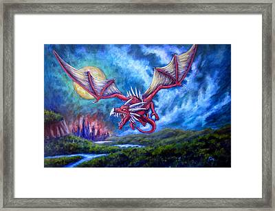 Danger In The Sky Framed Print