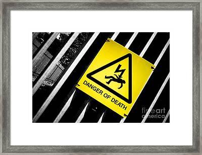 Danger Of Death #2 - A New Slant On An Old Message Framed Print by Pete Edmunds