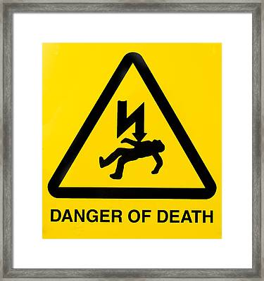 Danger Of Death Framed Print by Fizzy Image