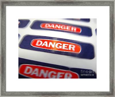 Danger Framed Print by Olivier Le Queinec