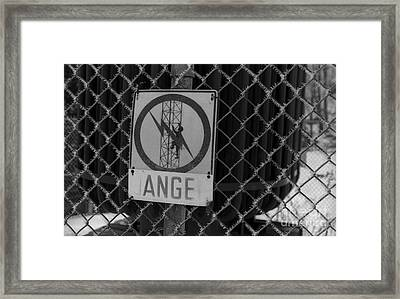 Danger Or Angel Framed Print by Andre Paquin