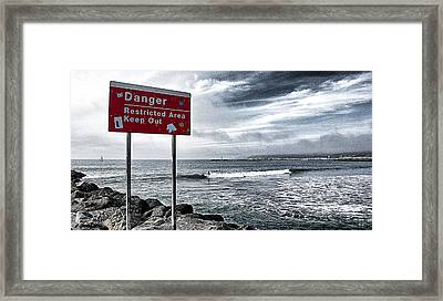 Danger Restricted Area Keep Out Framed Print by Ron Regalado