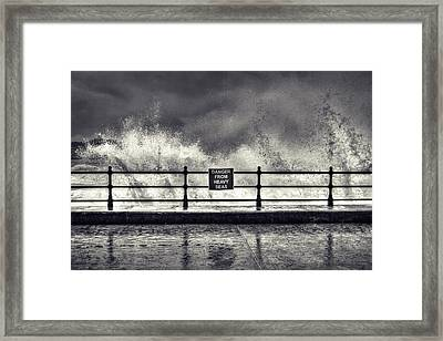 Danger Framed Print by Samuel Whitton