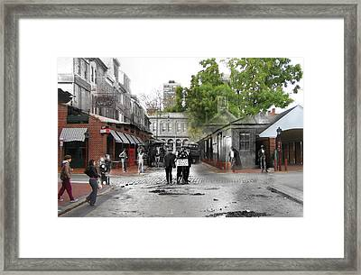 Danger Steam Roller Work Framed Print