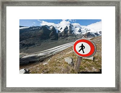 Danger Zone Alps And Mountains Framed Print by Martin Zwick