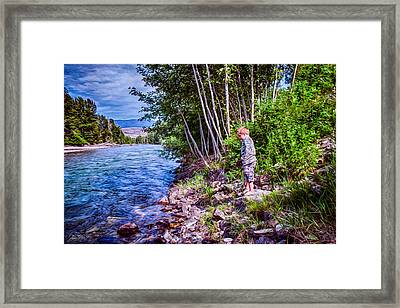 Dangerous Beauty Framed Print by Omaste Witkowski