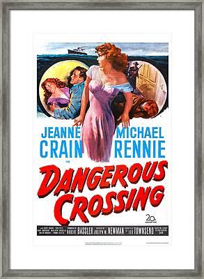 Dangerous Crossing, Us Poster, Jeanne Framed Print by Everett