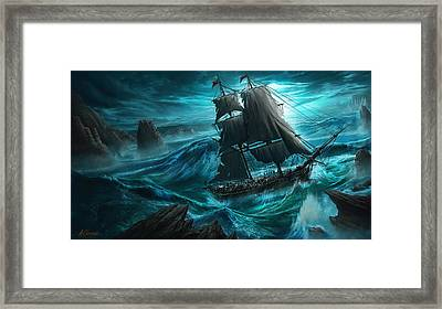 Dangerous Seas Framed Print by Anthony Christou