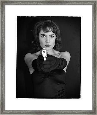 Framed Print featuring the photograph Dangerous Woman I by Jim Poulos