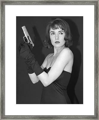 Framed Print featuring the photograph Dangerous Woman II by Jim Poulos