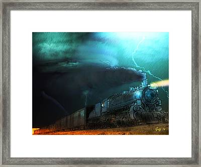 Dangers Of A Prairie Evening Framed Print by J Griff Griffin