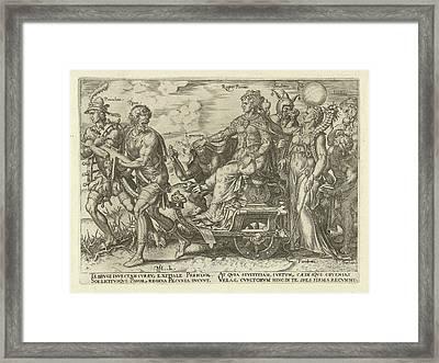 Dangers Of Wealth, Philips Galle, Hadrianus Junius Framed Print by Philips Galle And Hadrianus Junius