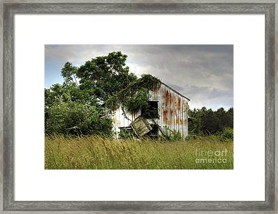 Dangling Barn Door Framed Print