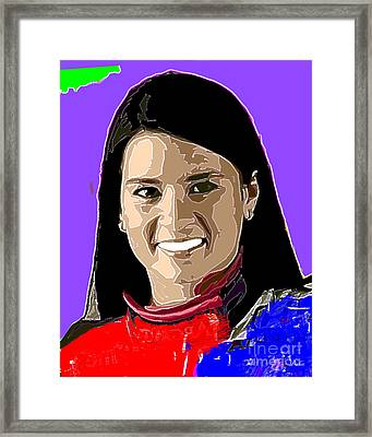 Danica Patrick Framed Print by Dalon Ryan