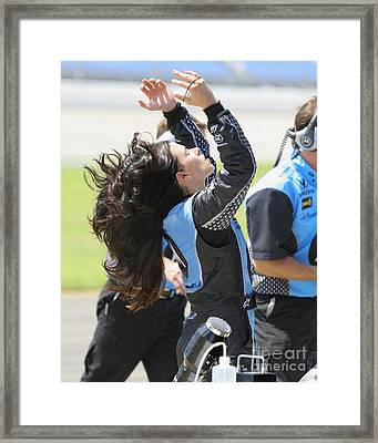 Danica Patrick Nashville Speedway End Of The Day  Framed Print by Patrick Morgan