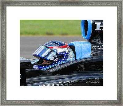 Danica Patrick Ready To Race Framed Print by Patrick Morgan