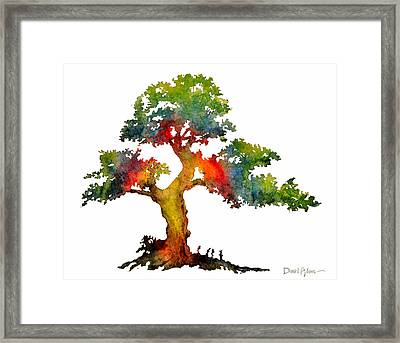 Da140 Rainbow Tree Daniel Adams Framed Print
