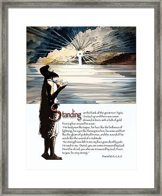 Daniel And The Angel Framed Print by Ron Cantrell