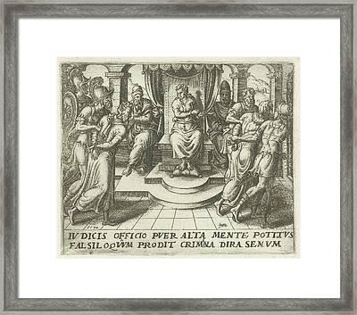 Daniel Condemns The Elders, Abraham De Bruyn Framed Print