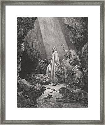 Daniel In The Den Of Lions Framed Print