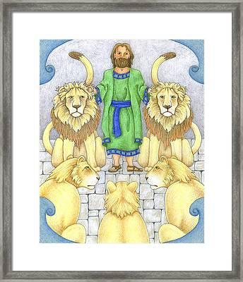 Daniel In The Lions' Den Framed Print by Alison Stein