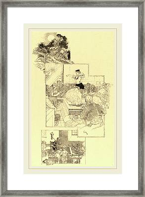 Daniel Vierge, On The Trail Of Don Quixote Framed Print by Litz Collection
