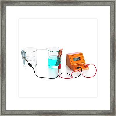 Daniell Electrochemical Cell Framed Print by Science Photo Library