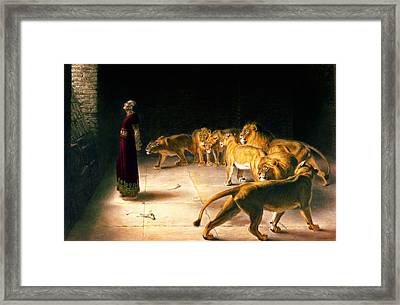 Daniel's Answer To The King Framed Print by Celestial Images