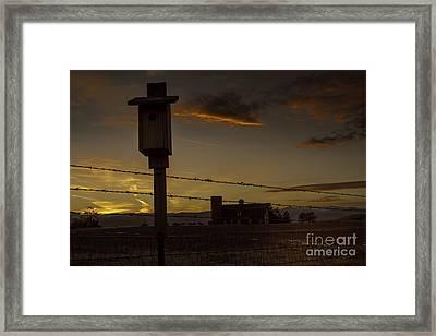 Daniel's Dusk Framed Print