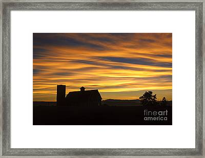 Daniel's Sunset Framed Print