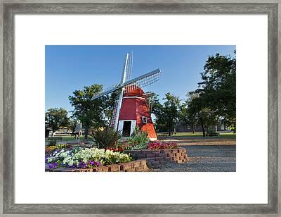 Danish Mill Built In 1902 Resides Framed Print