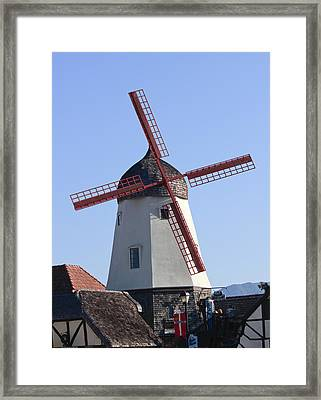 Danish Windmill Framed Print by Ivete Basso Photography