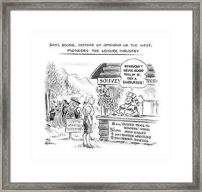 Dan'l Boone Framed Print by Ed Fisher