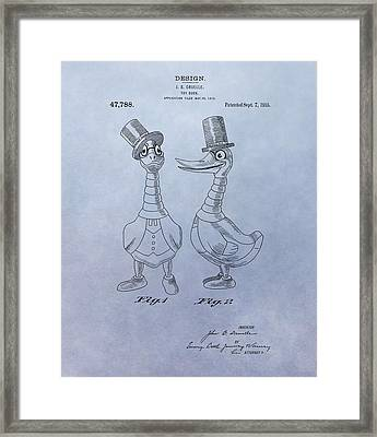 Danny Daddles Patent Framed Print by Dan Sproul